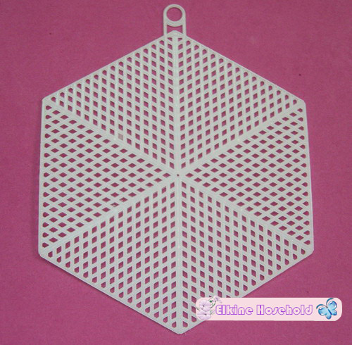 5.5 Hexagon Plastic canvas shape